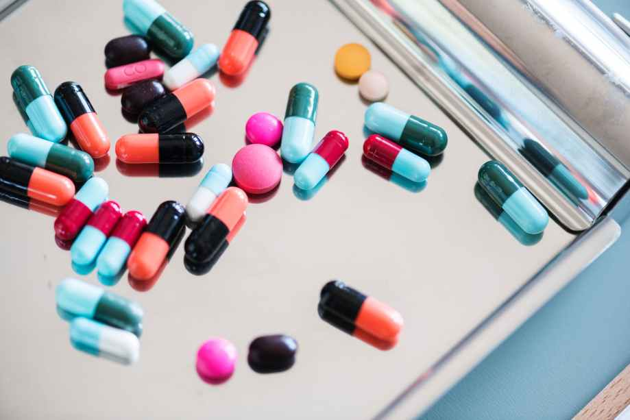 assorted medication capsules